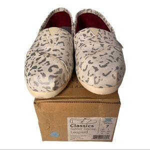 Toms Classics Snow Leopard Women's shoe….